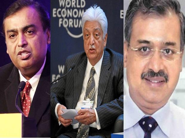 Mukesh Ambani, Azim Premji, Dilip Shanghvi, Bill Gates