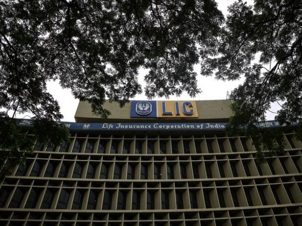 An exterior view of Life Insurance Corporation of India's (LIC) headquarters is seen in Mumbai