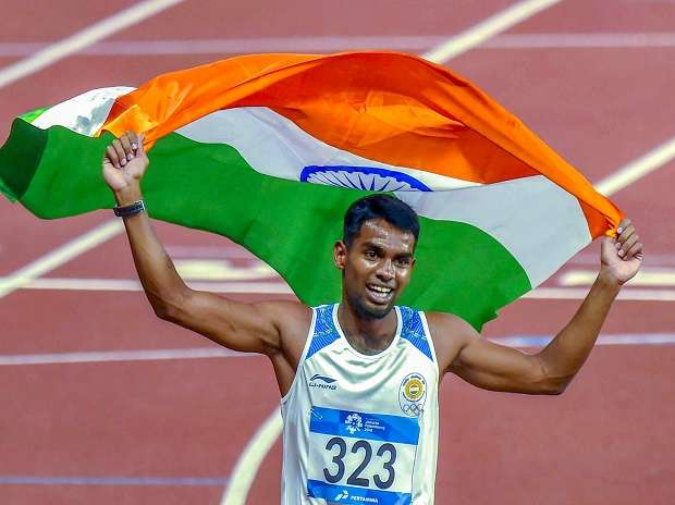 Dharun clinches silver in men's 400m hurdles
