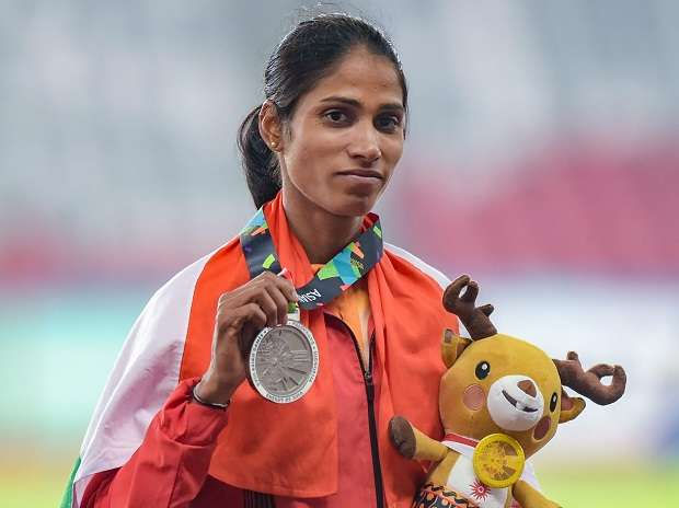 Sudha Singh wins silver in women's 3000m steeplechase in Asian Games
