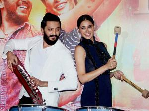 Riteish Deshmukh and Nargis Fakhri at Banjo trailer launch event