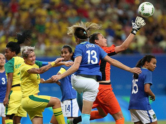 Roxanne Barker, Brazil vs South Africa, women's Olympic football , rio olympics 2016, Summer Olympics 2016, summer olympics, rio olympics