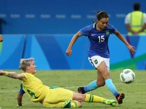 Brazil vs South Africa women's Olympic football tournament group E match