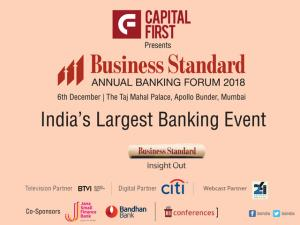 Business Standard Annual Banking Forum 2018